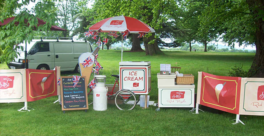 Red Tricycle Catering Ice Cream Tricycle Somerset