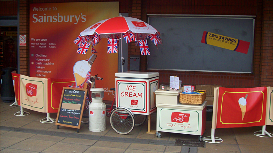Red Tricycle Catering Ice Cream Tricycle Somerset Devon Dorset